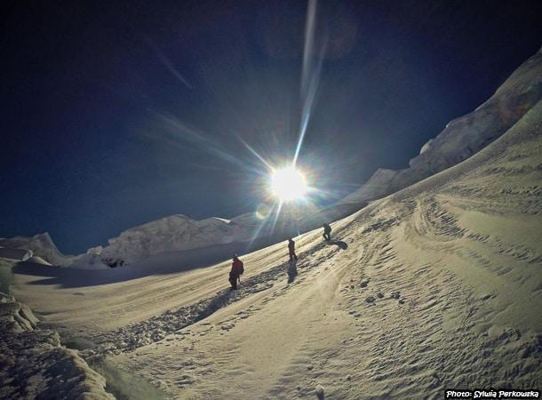Summit Yanapaccha in Cordillera Blanca Peru