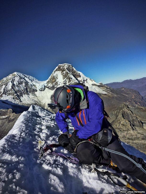 Climbing Yanapaccha mountain in Cordillera Blanca