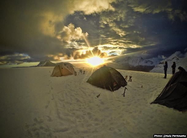 Tocllaraju summit near Huaraz cordillera blanca