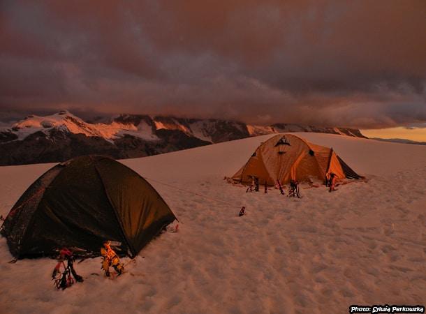 Climbing Tocllaraju mountain in Cordillera Blanca