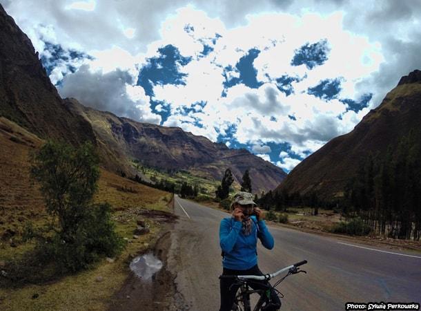 Trasa rowerowa z Cusco do Pisac, Peru