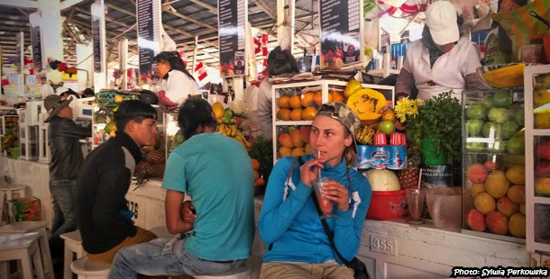 Juice on San Pedro market in Cusco