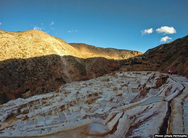 salt mines salineras de maras near cusco, peru