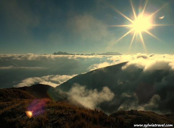Sun in Peru
