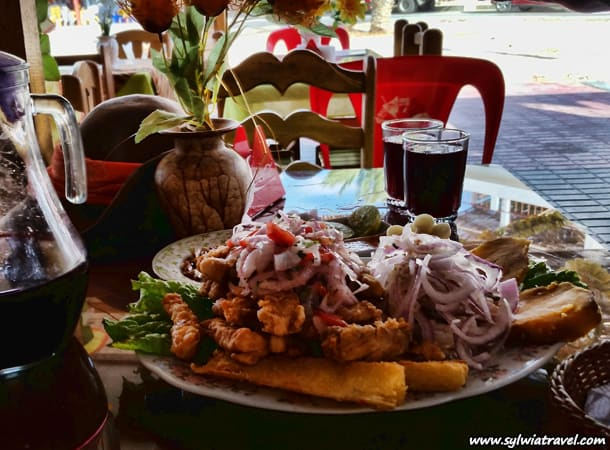 Peruvian food - jalea and seviiche