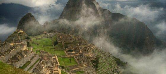 Famous Lost City of the Incas Machu Picchu