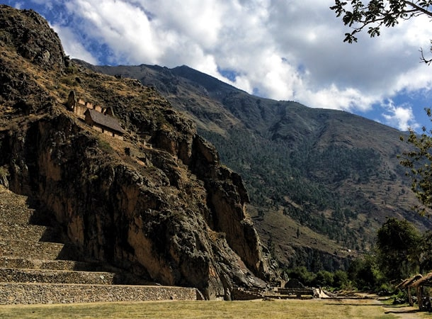 The Incas ruins in Ollantaytambo