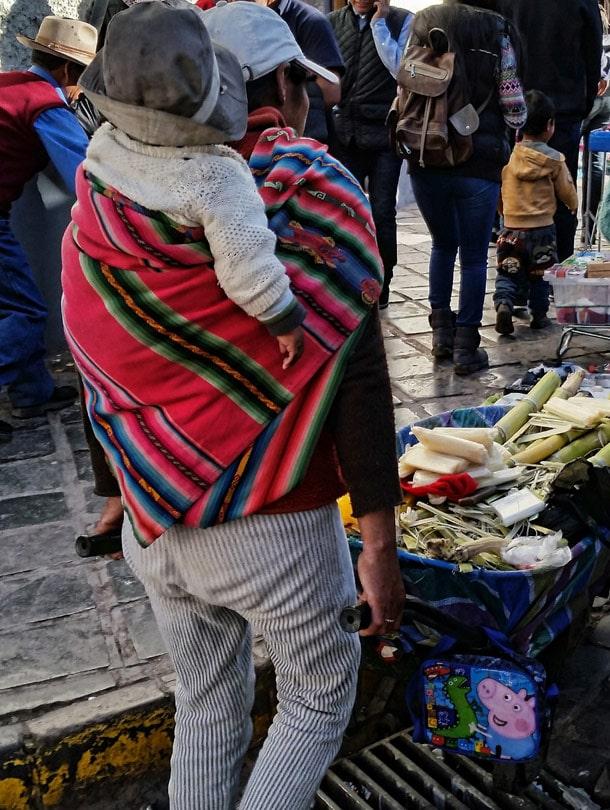 Working woman in Cusco