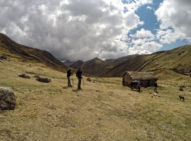 On the way during trekking to Lares