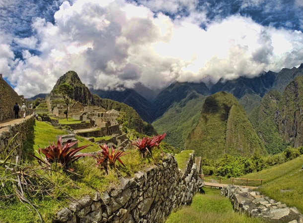 Inkaskie ruiny w Peru Machu Picchu