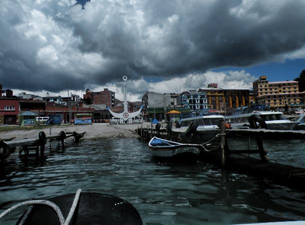 Nad jeziorem Titicaca Boliwia
