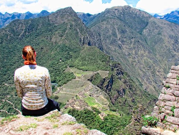 Widok z Huayna Picchu na ruiny Machu Picchu