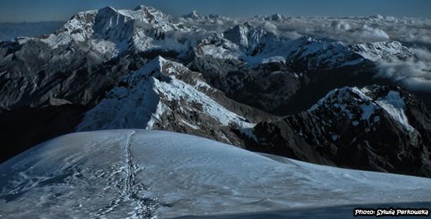 Impressions from climbing Tocllaraju mountain in Cordillera Blanca
