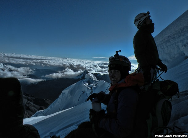 climbing tocllaraju summit in Huaraz