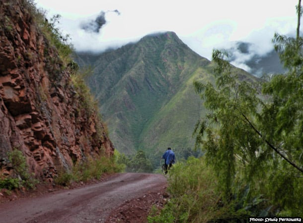 Bicycle tour near Cusco Peru