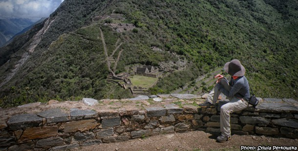 Inca ruins Choquequirao