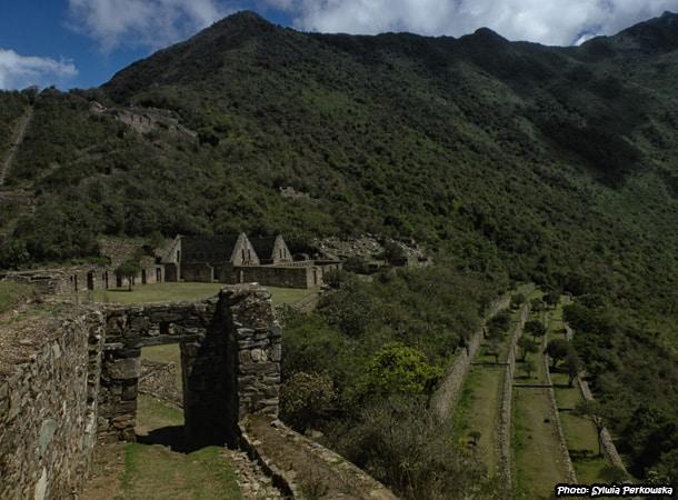 Inca ruins Choquequirao in Peru