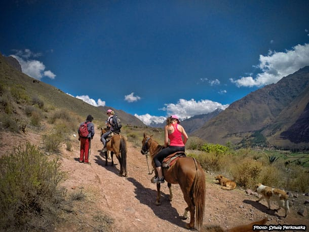 Horse riding from Ollantaytambo to Inti Punku