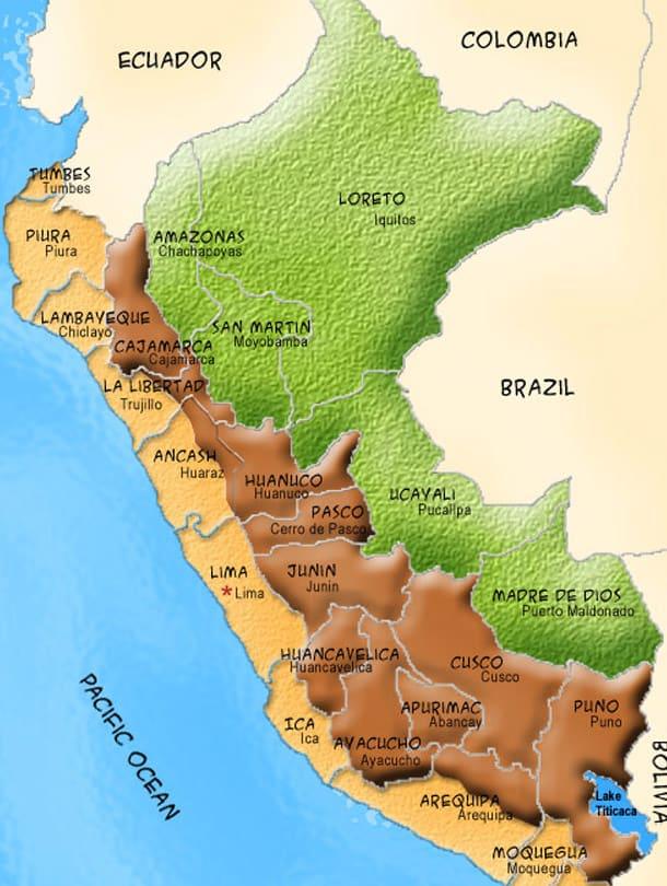 Pacaya Samiria Iquitos Tour Map