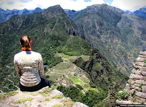 View for Machupicchu from Huayna Picchu mountain