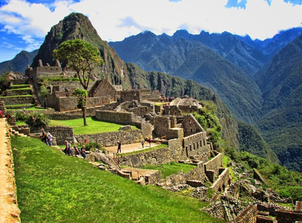 The Incas ruins Machu Picchu