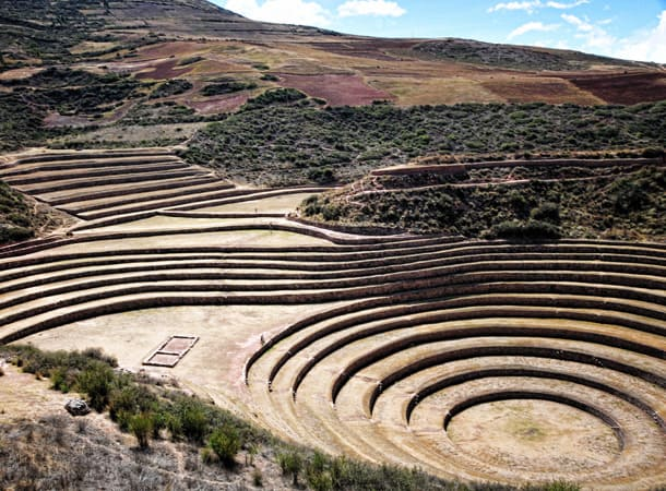Peru Incas archaeological spot in Moray