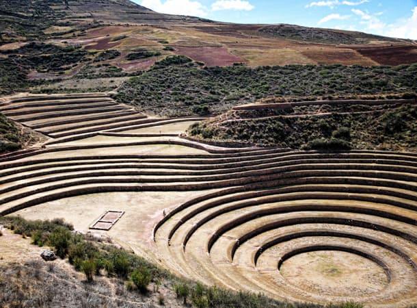 Peru Incas archaeological spot in Moray
