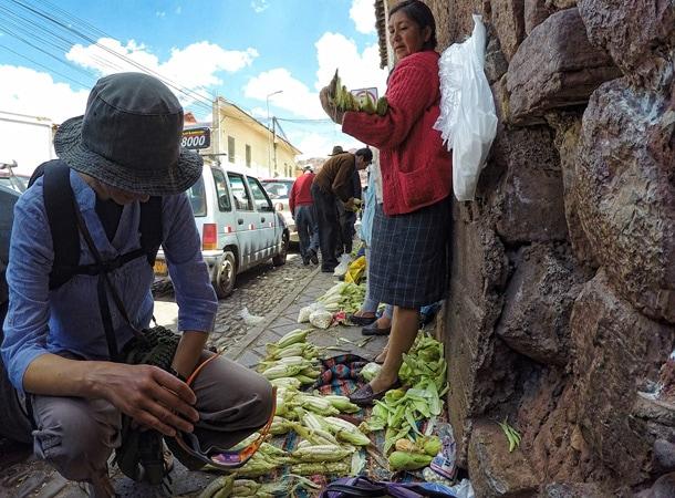 Lokalny ryneczek w Cusco
