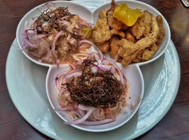 Curowa ryba w Peru ceviche