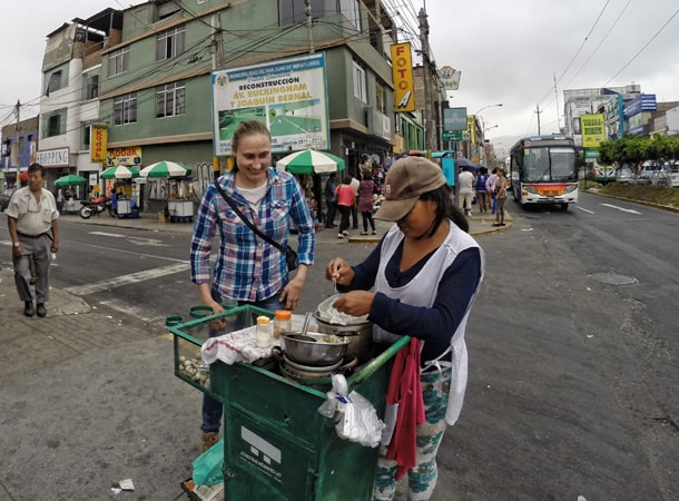 Quail eggs in Peru