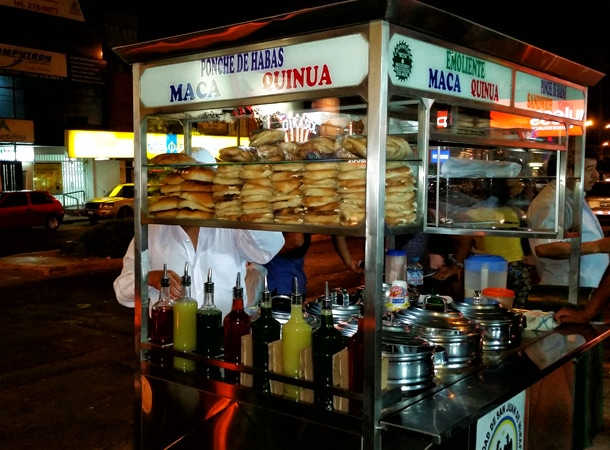 Street food in Peru