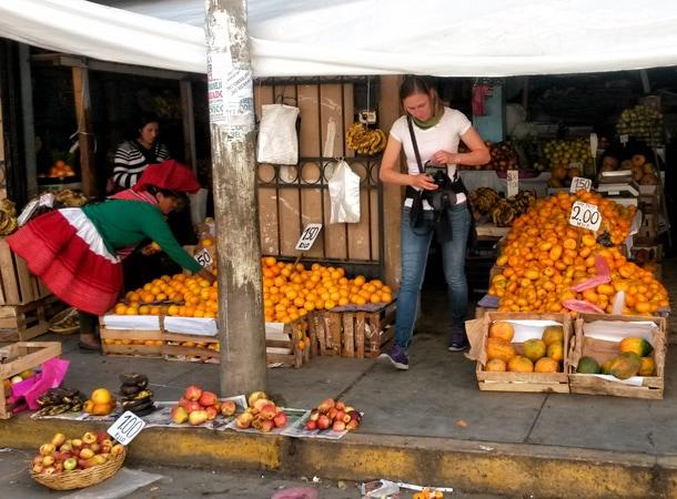 Lokalne ryneczki w Peru