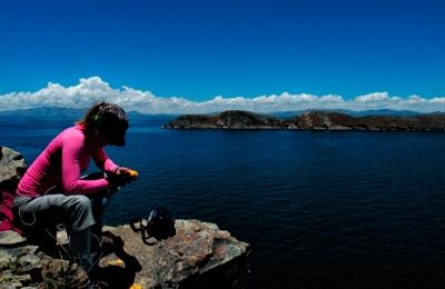 Wyspa Isla del Sol na jeziorze Titicaca
