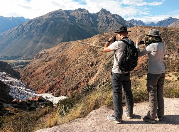 Wyprawy Peru Salineras de Maras z góry