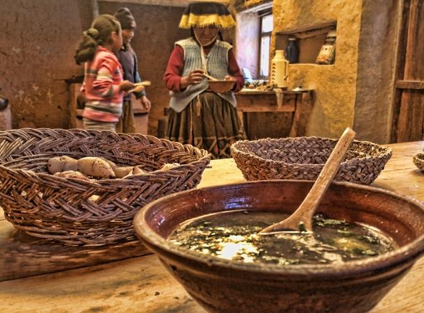 Jedzenie w Peru wyprawy