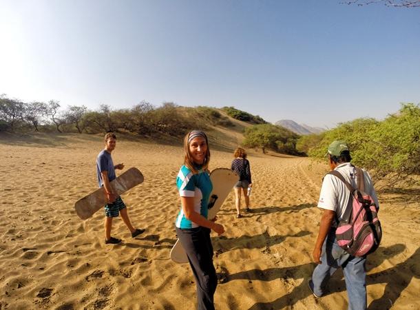 Sandbording w trakcie wyprawy po Peru