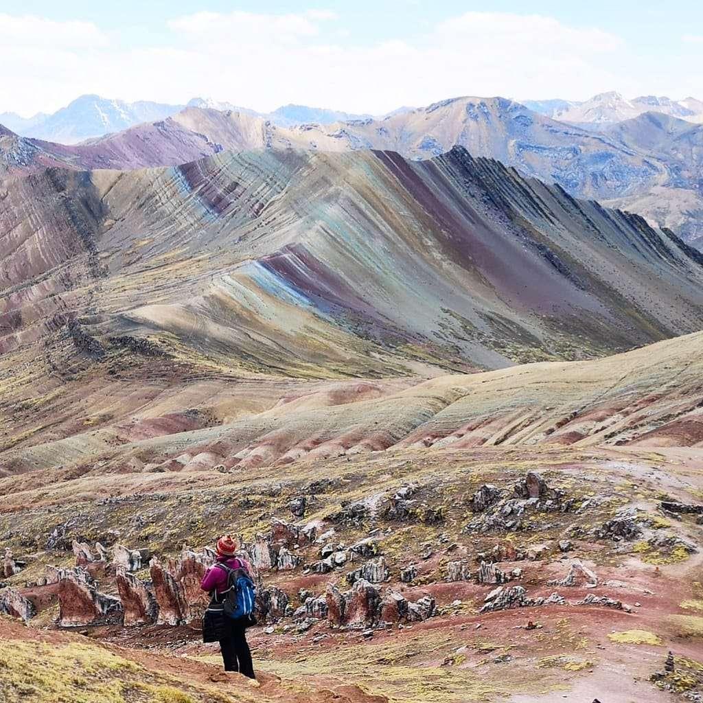 Tęczowe góry Peru region Cusco
