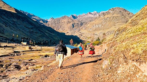 Lokalne spolecznosci na szlaku gorskim w Andach