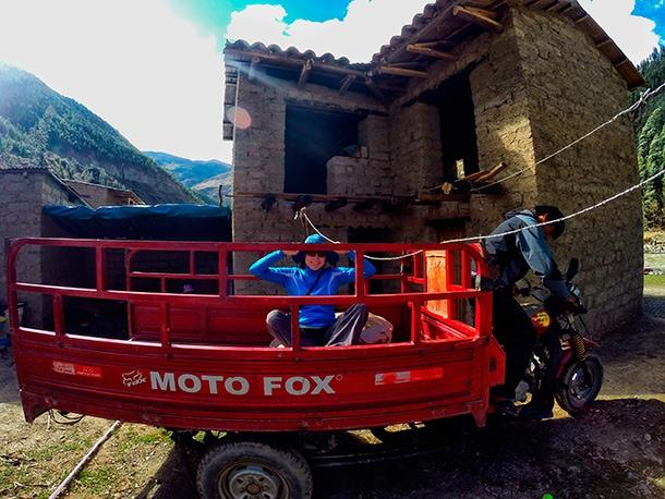 Lokalny transport w Peru. Wycieczki do Machu Picchu