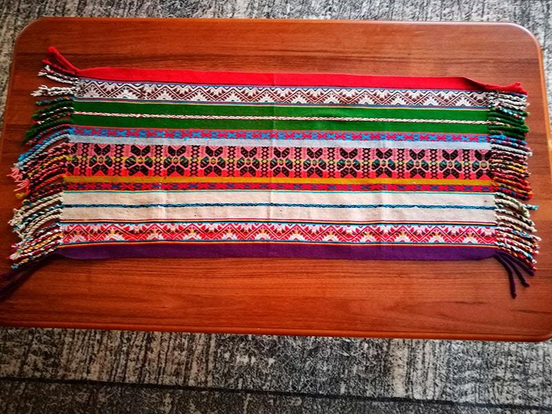 Narzuta na stolik, czyli pamiątki z Peru