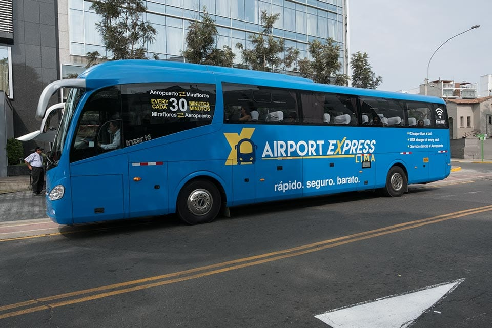 Aiport Express Bus Lima Peru