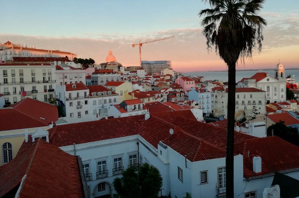 Lizbona wieczorem