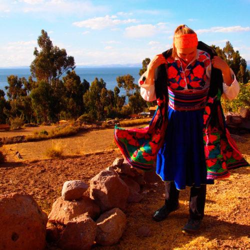 Jezioro Titicaca i wyspa Amantani. PerƗy poƗudniowego Peru