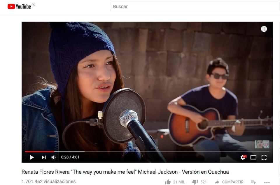 Muzyka w kechua z Peru i wokalistka Renata Flores
