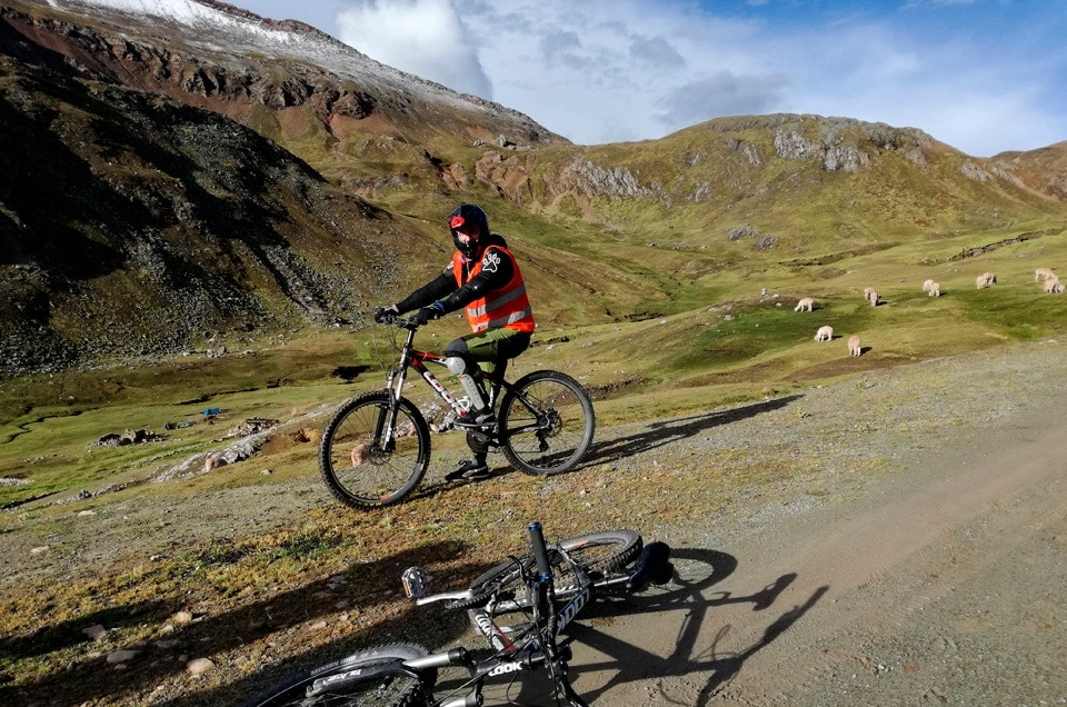 Andy w Peru na rowerach