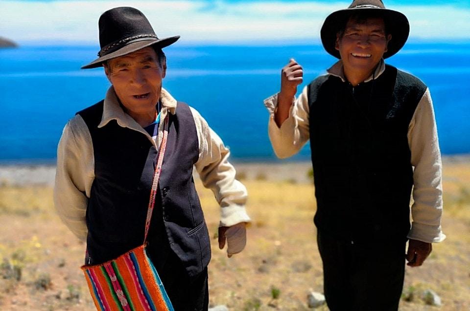 Jezioro Titicaca w Peru i wyspa Ticonata
